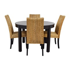 Dining Chair Sets Of 4 Pottery Barn Baby Cover 66 Off Macy 39s And Ikea Round Black Table Set With