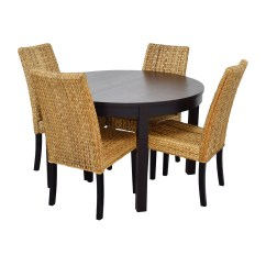 Chair For Dining Table With Chairs Inside 66 Off Macy 39s And Ikea Round Black Set