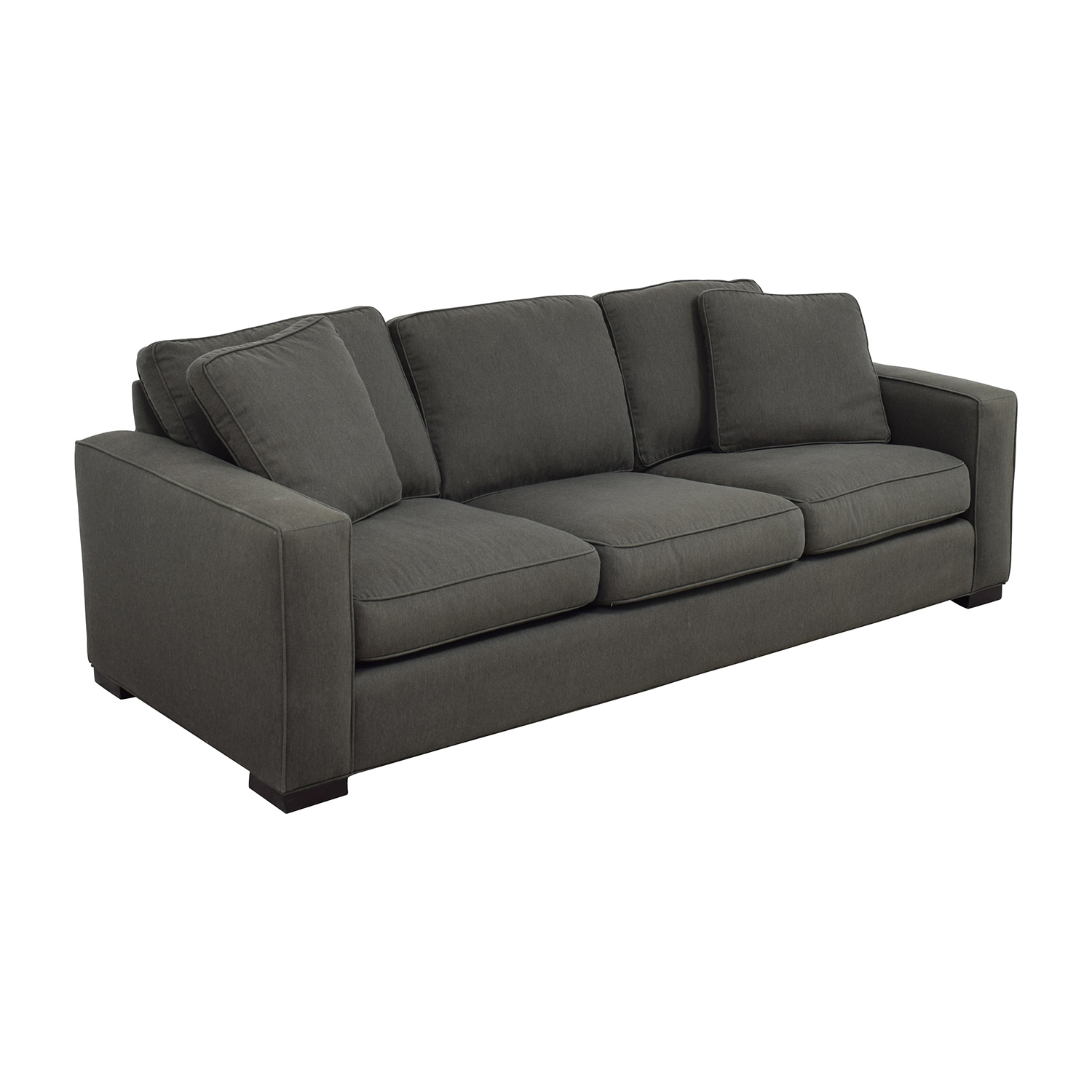 room and board metro sleeper sofa baby blue leather 49 off in charcoal