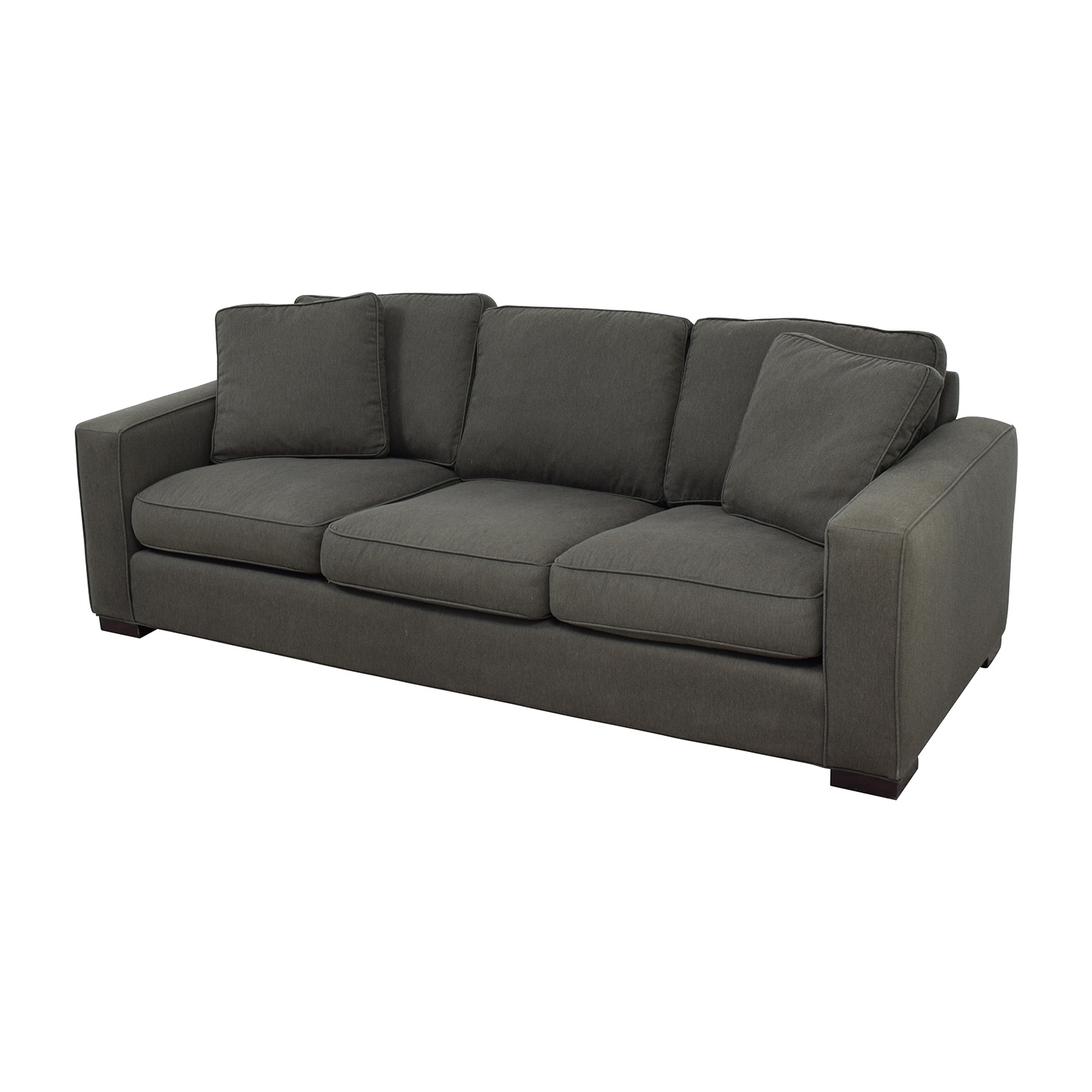 room and board sofas sectionals light colored leather 49 off metro sofa in charcoal