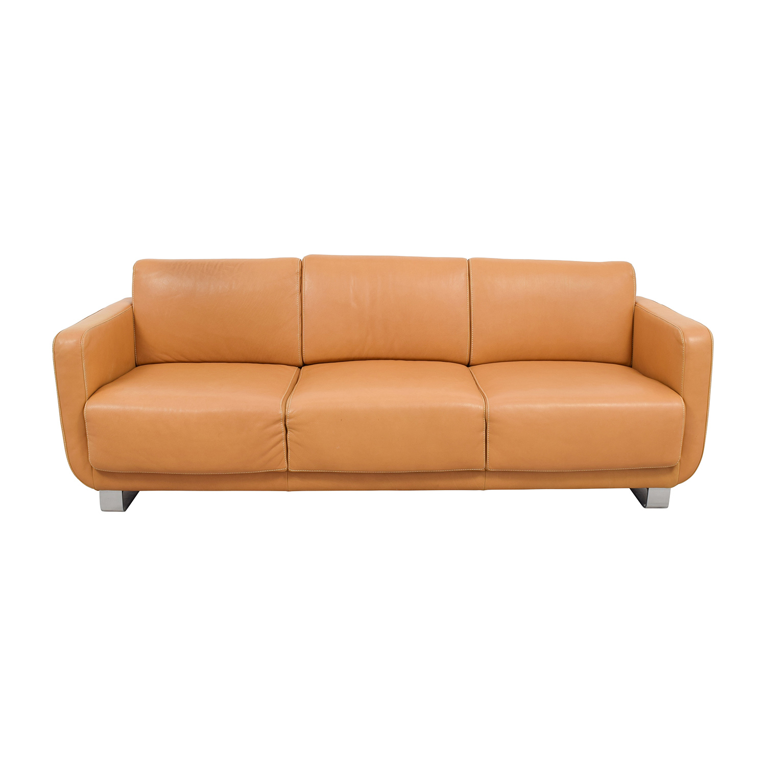 light brown leather reclining sofa versace home price 74 off w schillig