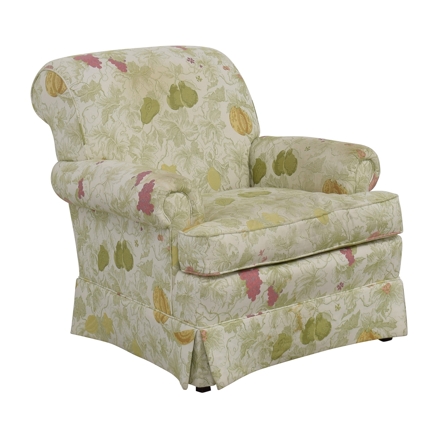 Patterned Chairs 80 Off Sherrill Sherrill Fruit Patterned Accent Chair