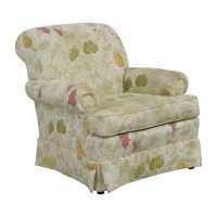 80% OFF - Sherrill Sherrill Fruit Patterned Accent Chair ...