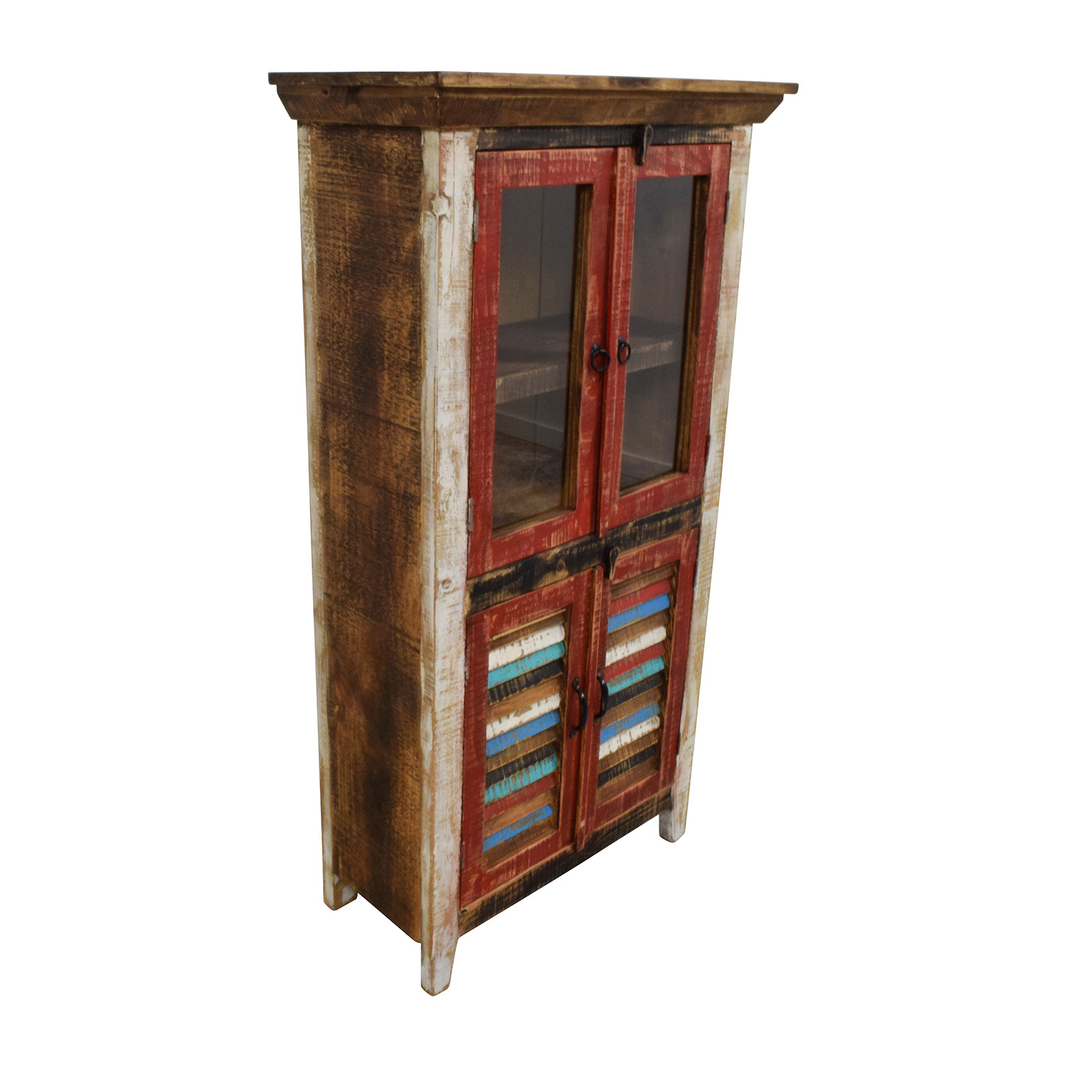 48 OFF  Horizon Home Antique Rustic Glass and Wood