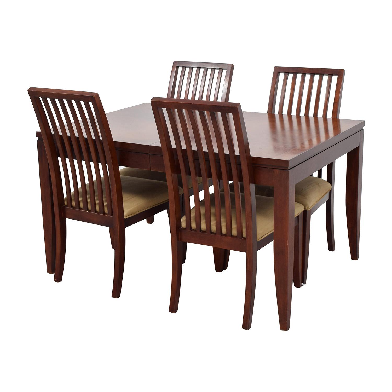 four chair dining set wagon wheel 84 off macy 39s metropolitan with