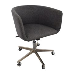 Desk Chair With Wheels Sears Craftsman Folding Chairs 80 Off Modern Grey Office Chrome