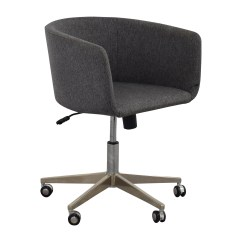 Desk Chairs On Wheels Purple Accent 80 Off Modern Grey Office Chair With Chrome