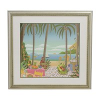 90% OFF - Caribbean Seascape with Gold Frame / Decor