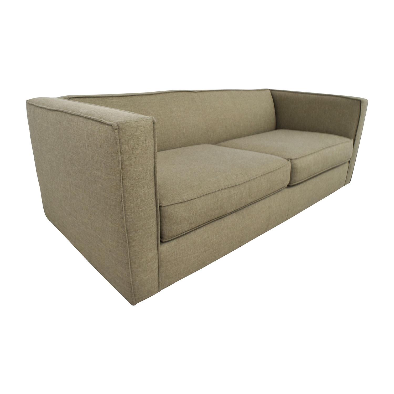 cb2 club sofa ottoman catnapper recliner 75 off in brown sofas