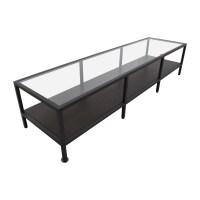 30% OFF - IKEA IKEA Metal Glass Coffee Table Media Unit ...