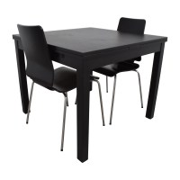 70% OFF - IKEA IKEA Three-Piece Dining Set in Black / Tables