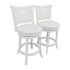 Counter Height Bar Chairs Wrought Iron Lounge Chair Cushion 90 Off Corliving White Leatherette Swivel