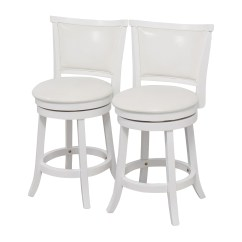Chair And Stool Heights Revolving Price In Karachi 90 Off Corliving White Leatherette Swivel