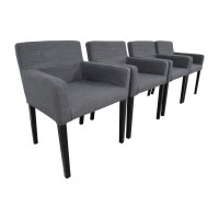 47% OFF - IKEA IKEA Nils Grey Fabric Dining Room Chairs ...