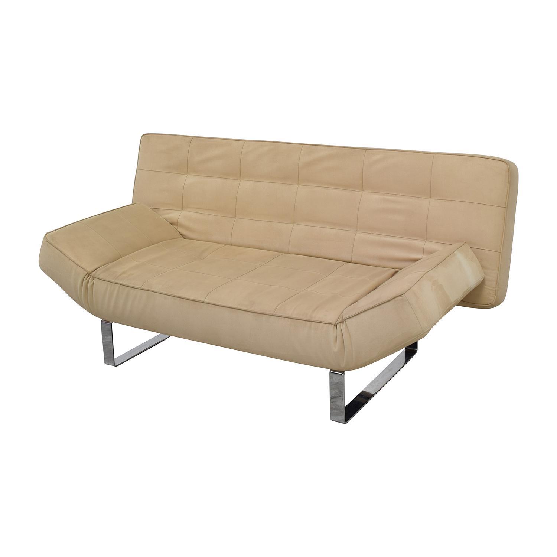 beige sleeper sofa trundle corner bed 63 off boconcept zen sofas
