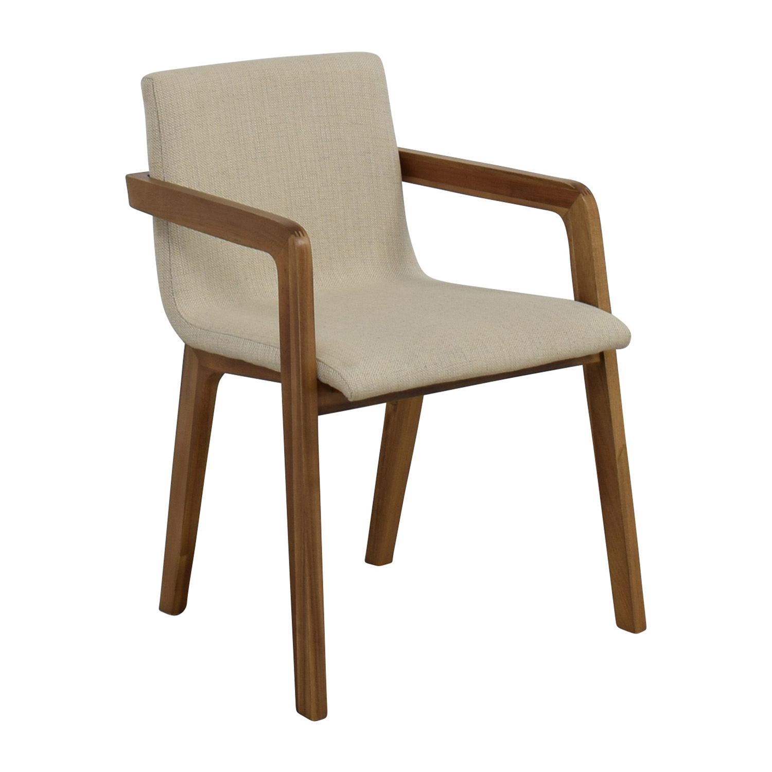 mid century accent chair slipcovers for armless chairs 58 off cb2 natural