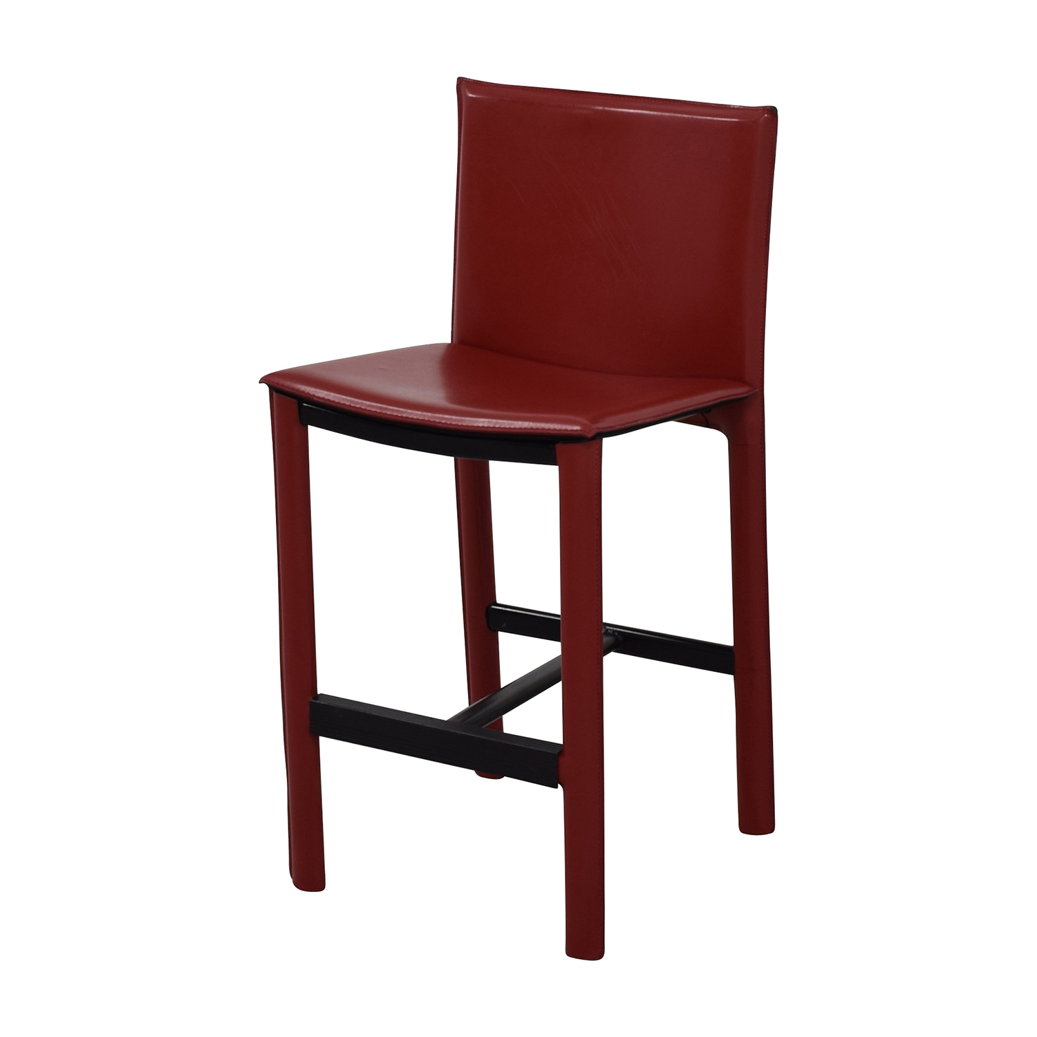 room and board chair wooden repair 90 off sava bar stool in red