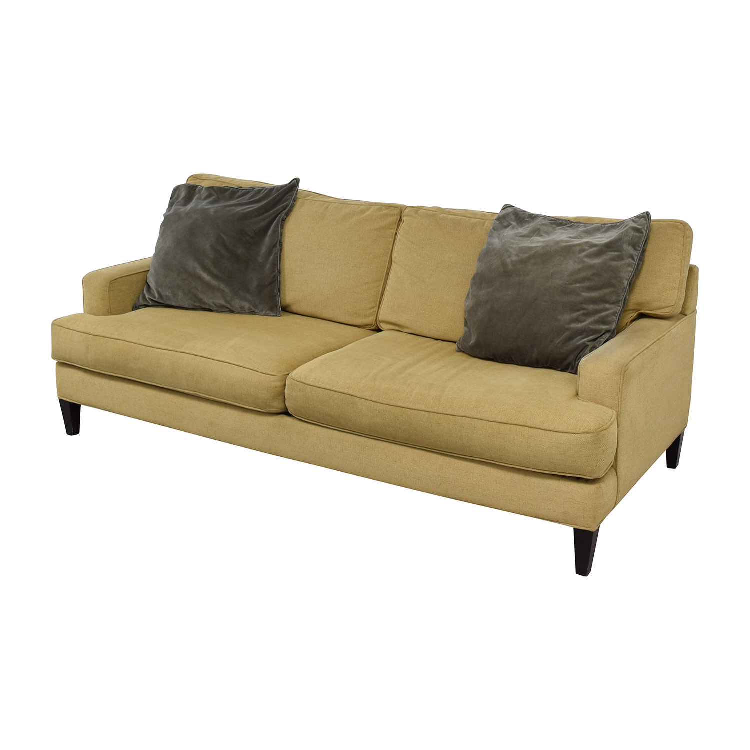 room and board sectional sofa bed standard two seater size 64 off beige cushion