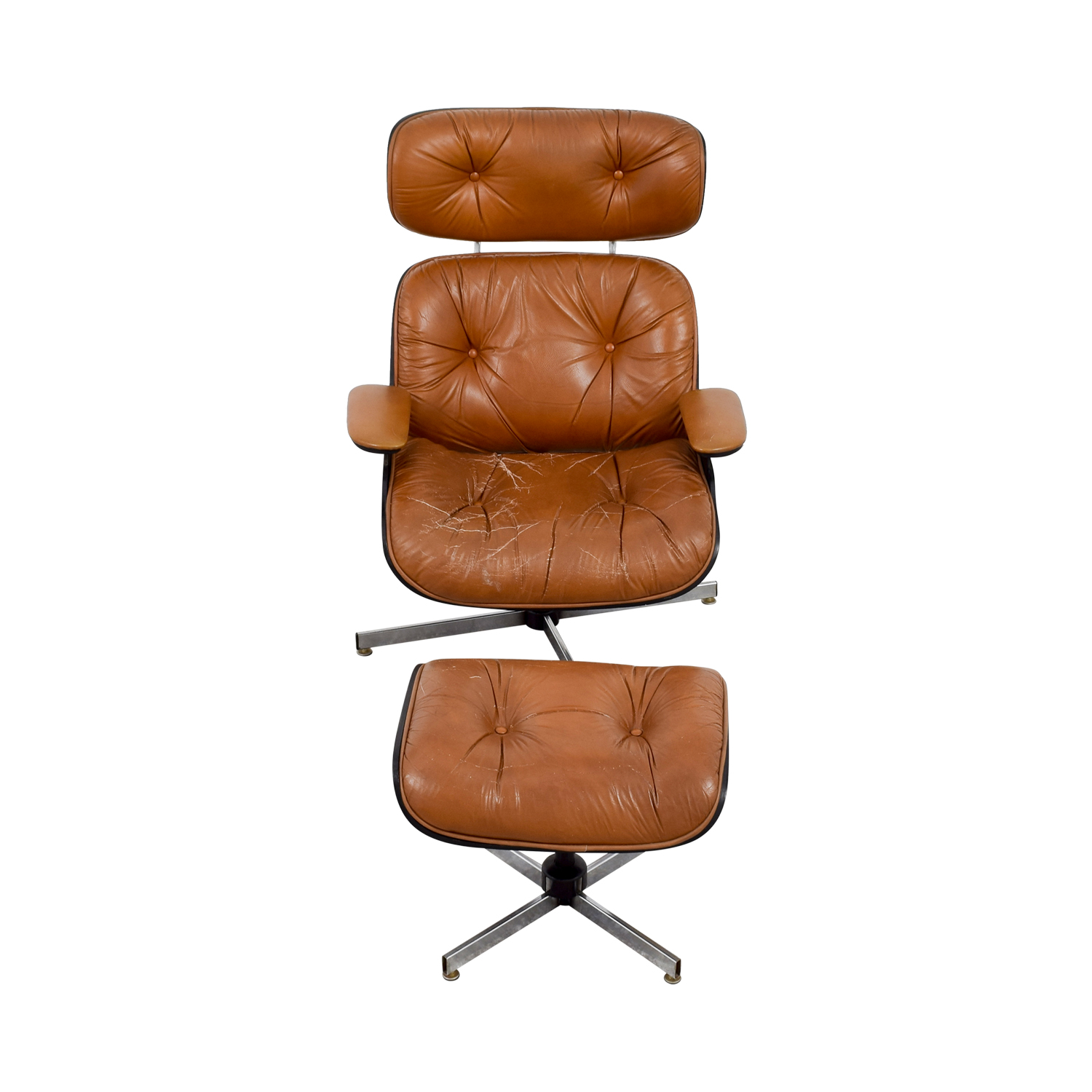 eames leather chair dining ergonomic price johannesburg 69 off replica with ottoman chairs