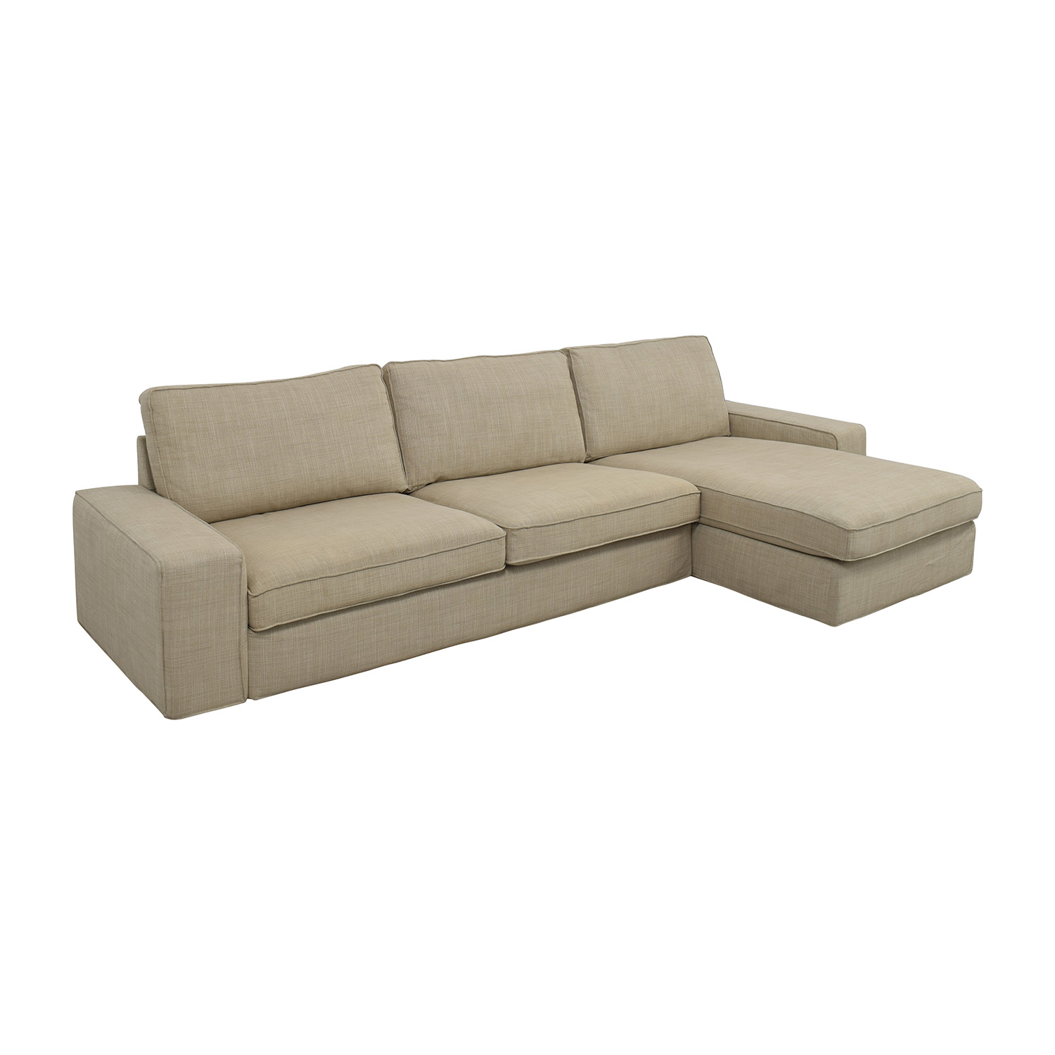 sofas in ikea quick sofa score ppt 50 off kivik sectional hillared beige