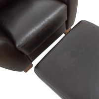 64% OFF - Sofitalia Sofitalia Dark Brown Leather Armchair ...