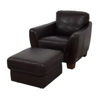 64% OFF - Sofitalia Sofitalia Dark Brown Leather Armchair ...