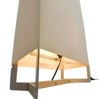 73% OFF - Crate and Barrel Crate & Barrel Ivory Floor Lamp ...