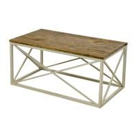 67% OFF - Wayfair Wayfair Wooden and Metal Coffee table ...