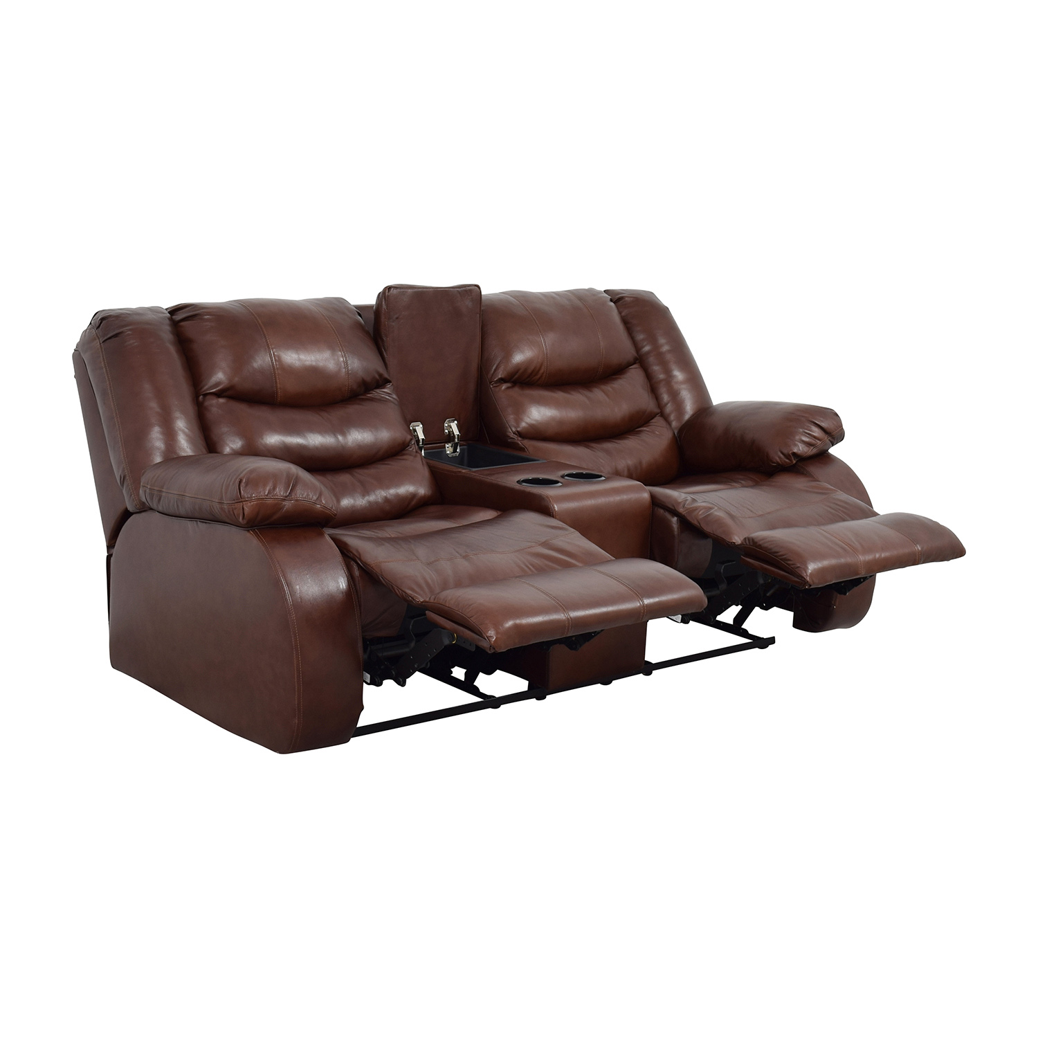 ashley furniture leather sofa recliners corduroy sectional canada 90 off brown