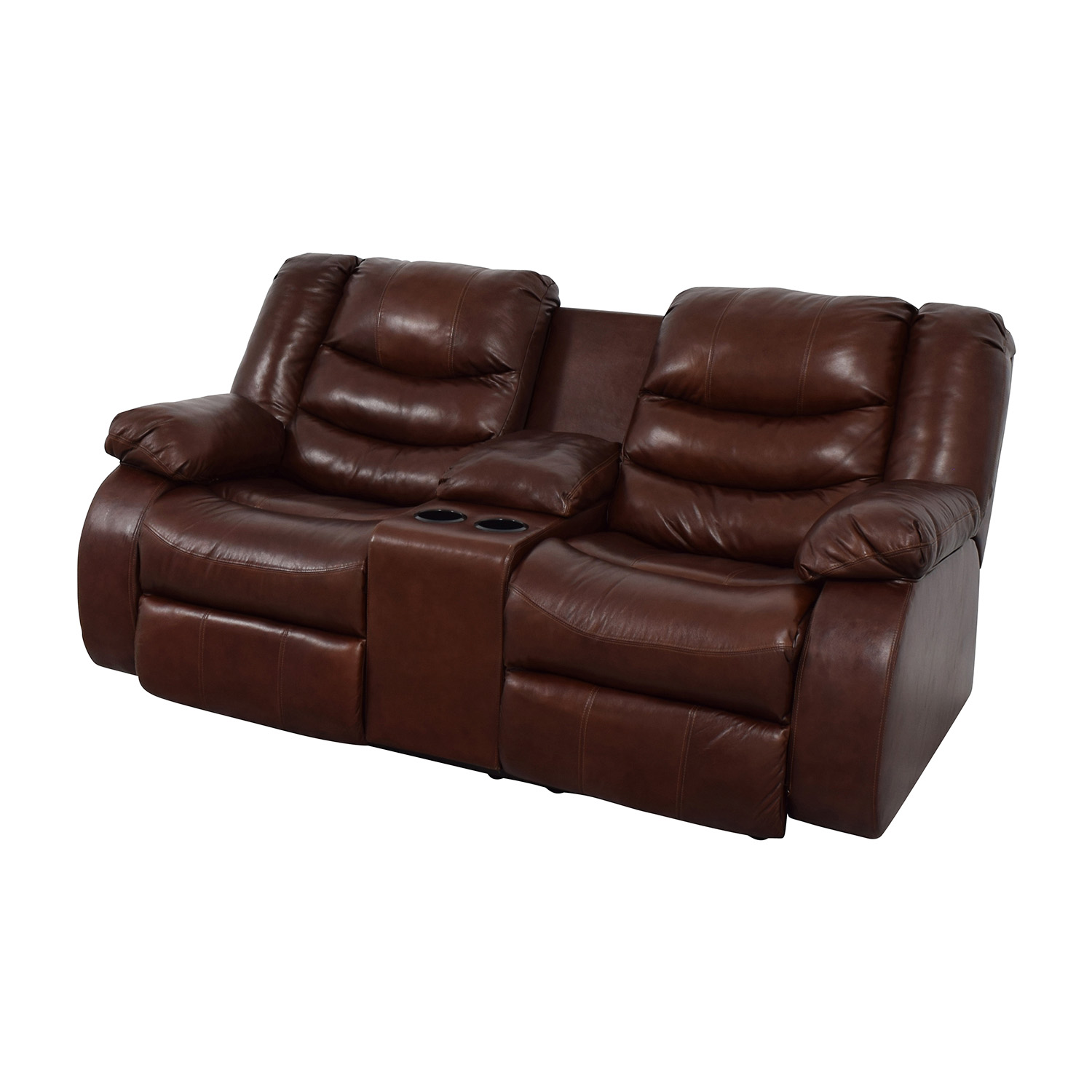 ashley furniture leather sofa recliners bed john lewis gumtree 90 off brown