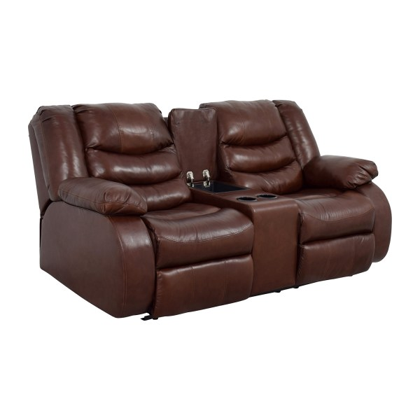 90 - Ashley Furniture Brown Leather