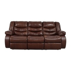 Ashley Leather Sofa Bed Medium Brown Table Bobs Furniture Buy