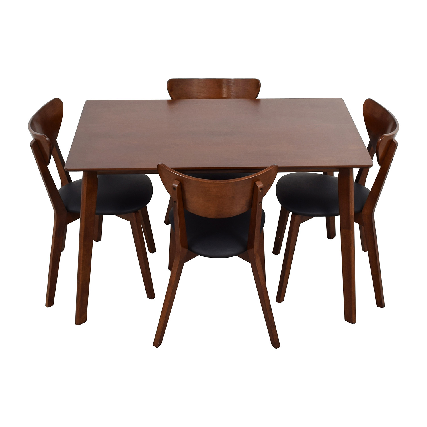 suede dining table chairs eames lcw chair 35 off wholesale interiors brown set with