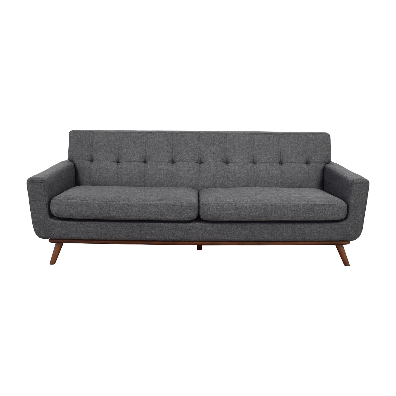 charcoal gray sofa bed sleepers beds 37 off inmod grey tufted lars sofas