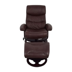 Reclining Chair With Ottoman Leather Blue Dining Chairs 59 Off Macy 39s Aby Brown Recliner