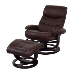 Chocolate Leather Dining Chairs Blue Arm 59% Off - Macy's Aby Brown Recliner Chair & Ottoman /
