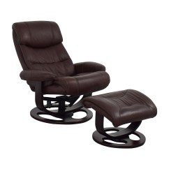 Recliner Chair With Ottoman Manufacturers Electric Lift 59 Off Macy 39s Aby Brown Leather