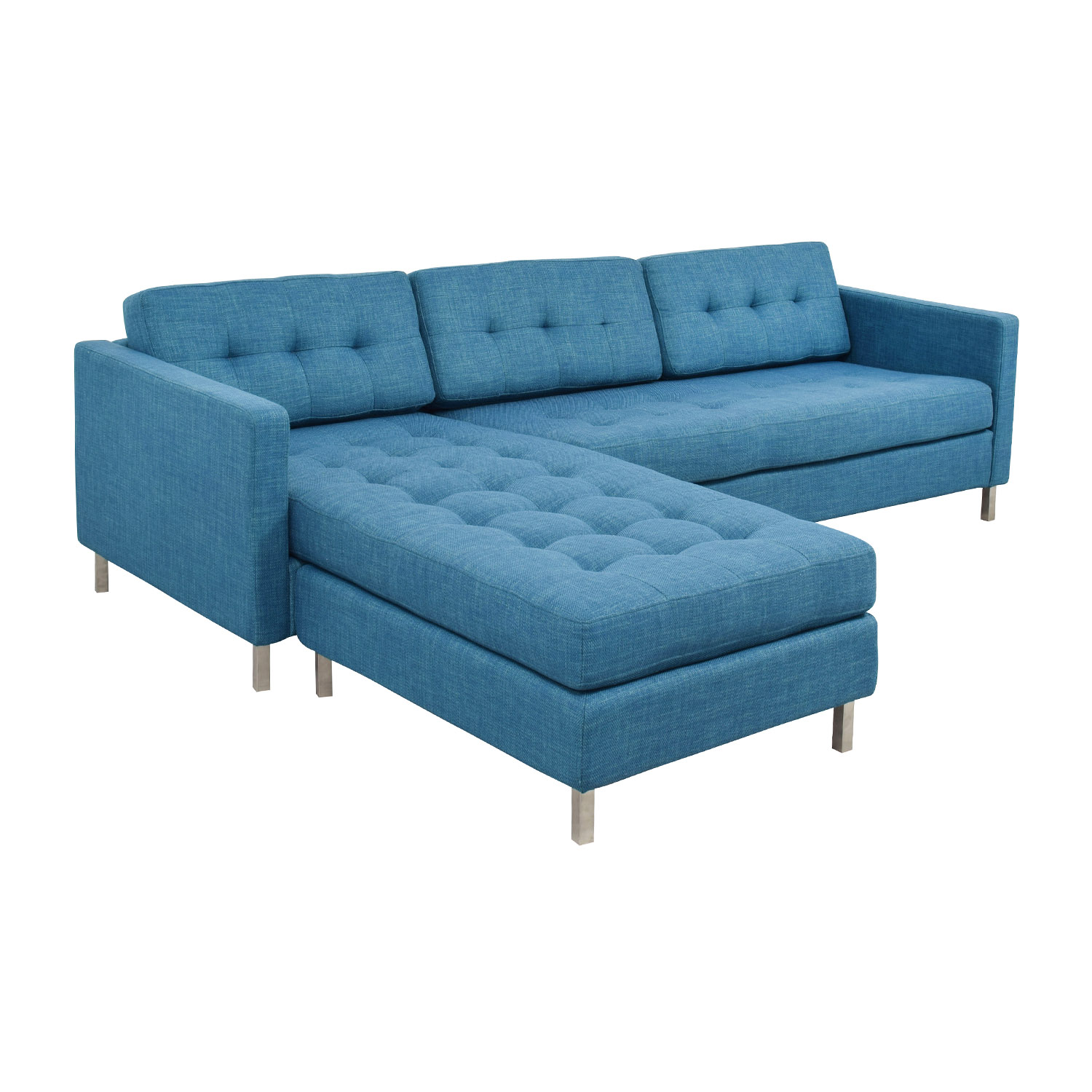 cb2 sectional sofa bed voyager triple reclining 33 off ditto ii peacock sofas