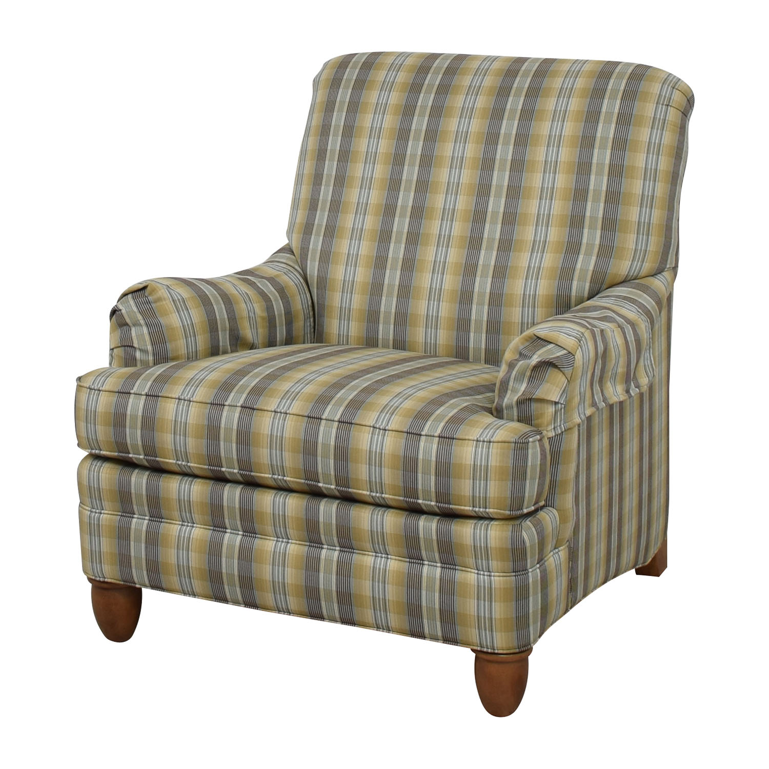 ethan allen recliners chairs teak chaise lounge sale 79 off plaid arm chair