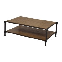 83% OFF - Ethan Allen Ethan Allen Wood and Metal Coffee ...