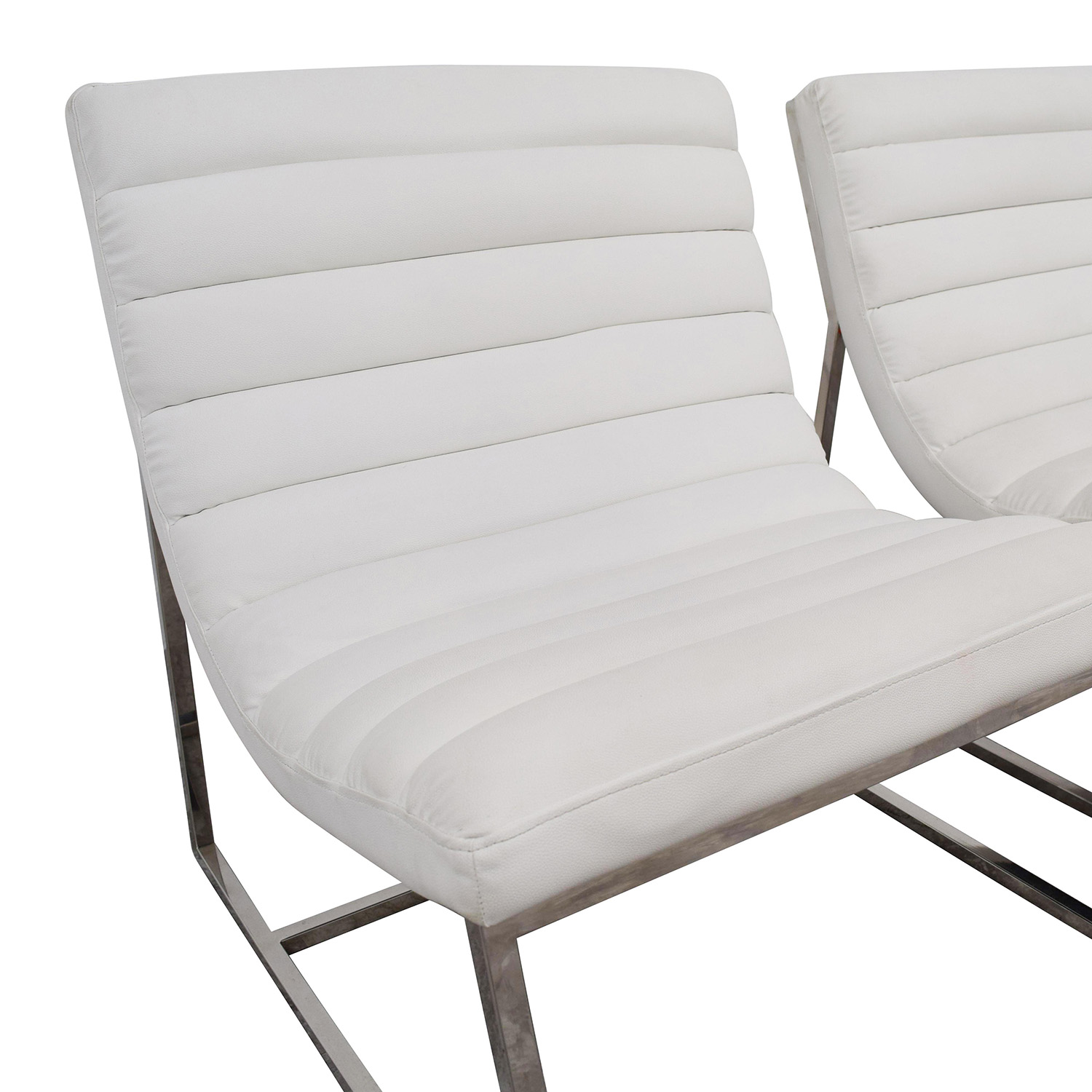White Leather Chairs 43 Off White Leather Sofa Chairs Chairs