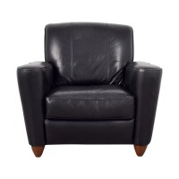 76% OFF - Leather Library Reading Chair / Chairs