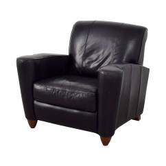 Black Leather Accent Chairs Brown Slipper Chair 76% Off - Library Reading /