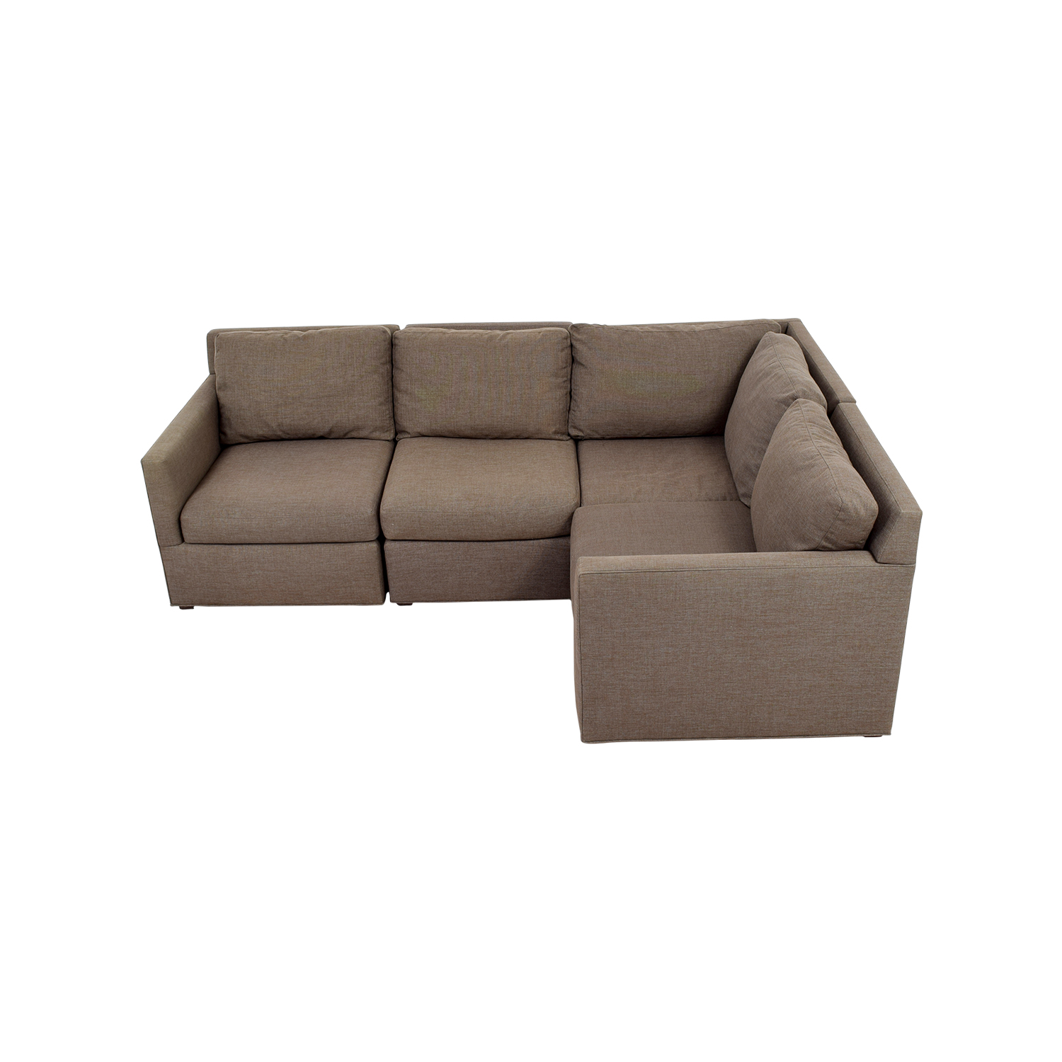 crate and barrel davis sofa leather light pink sectional sectionals used for sale