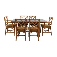 6 Chair Dining Set Bow Arm Morris Plans 64 Off Bamboo With Six Chairs Tables