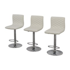 Stool Chair Second Hand High Back Office Leather 45 Off White Quilted Bar Chairs