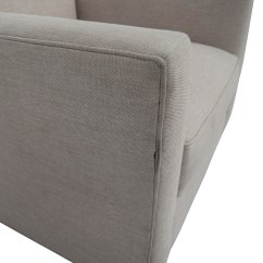 Crate And Barrel Lounge Chair Sure Fit Dining Cover 90 Off Hennessy Sofa