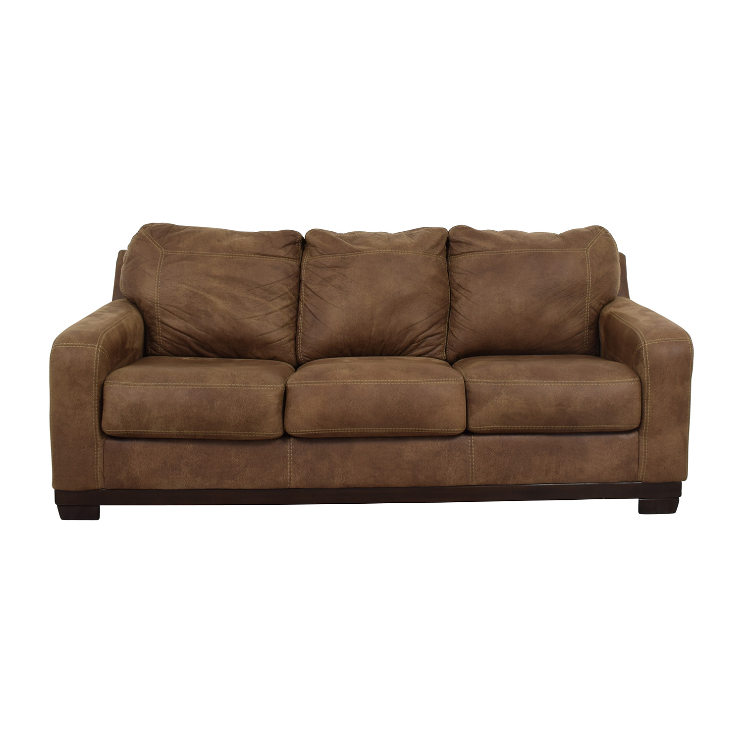 ashley furniture sofas elliot sofa bed target 79 off kylun brown three