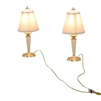 90% OFF - Lenox Lenox White and Gold Base Table Lamps / Decor