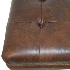 Leather Chair Pottery Barn Office Side 74 Off Martin Tufted Brown